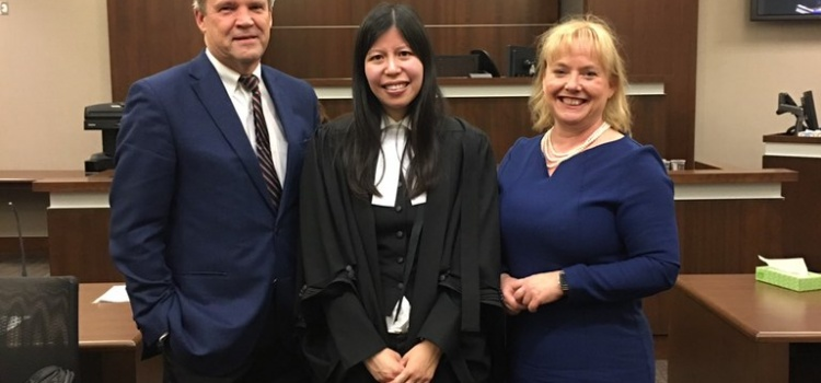 Chan-Glasgow Admitted to Alberta Bar