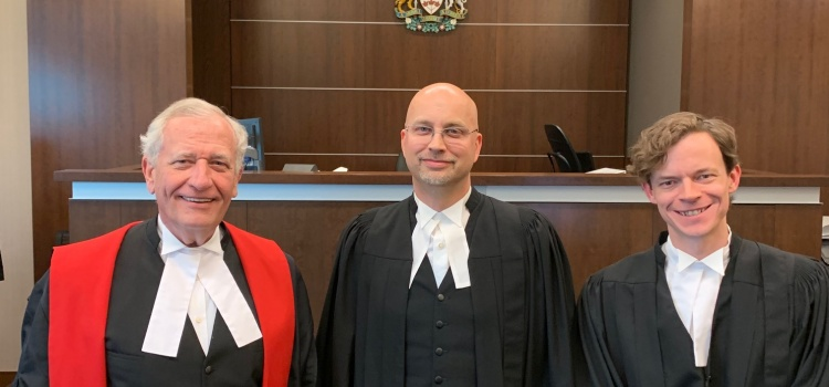 T. James Cass Admitted to Alberta Bar