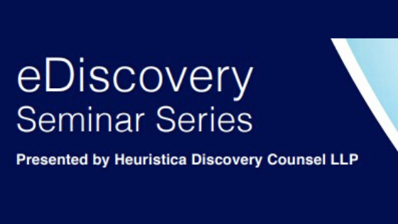 Calgary eDiscovery Seminar Series – Register Now!